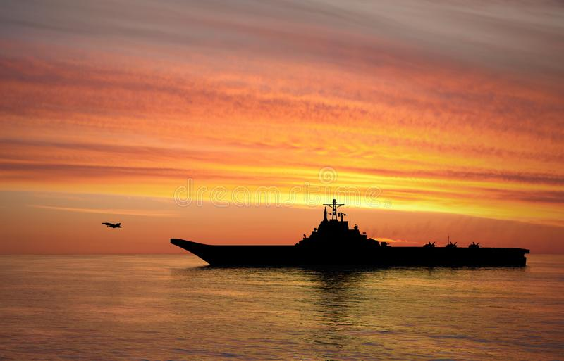 Aircraft carrier Heavy aircraft-carrying cruiser stock photography