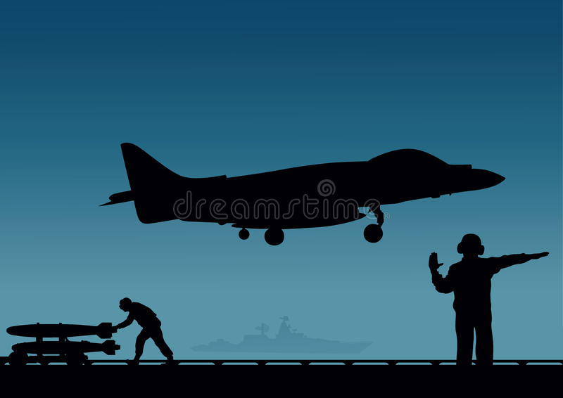 An aircraft carrier, royalty free illustration