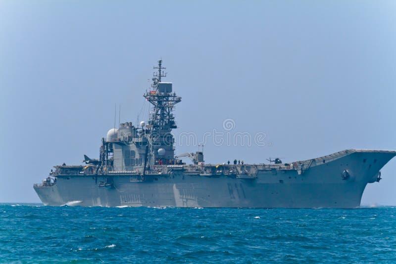 Aircraft carrier Principe de Asturias stock image