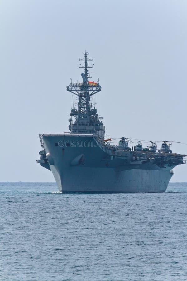 Aircraft carrier Principe de Asturias stock photo