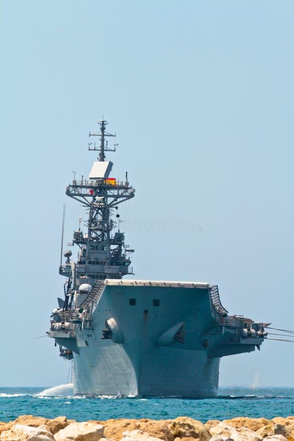 Aircraft carrier Principe de Asturias royalty free stock photo