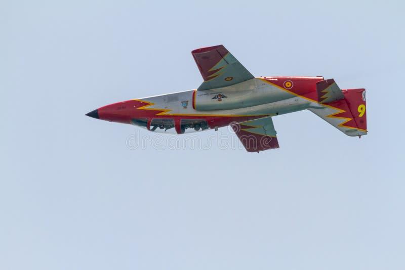 Aircraft CASA C-101 of the Patrulla Aguila stock images