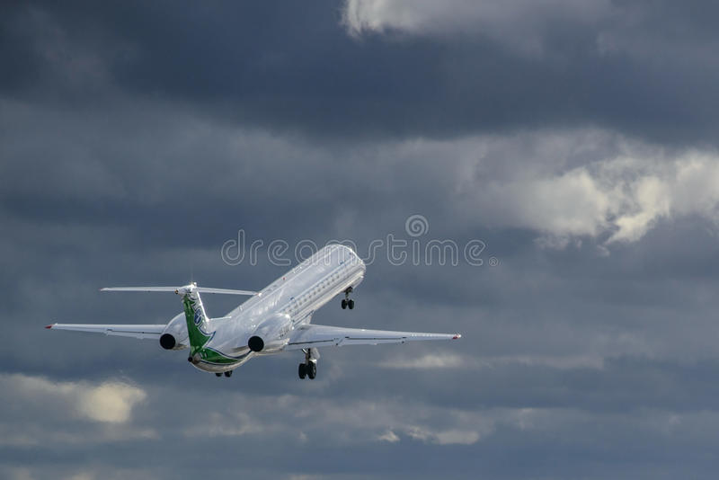 Aircraft Embraer flight royalty free stock photography