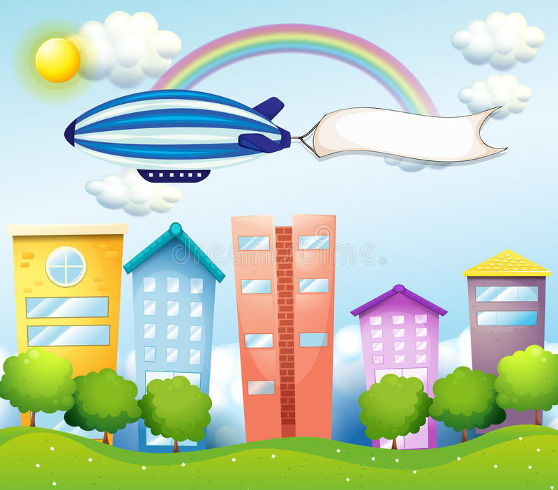 Download An Aircraft With An Empty Banner At The Back Stock Vector - Image: 32733242