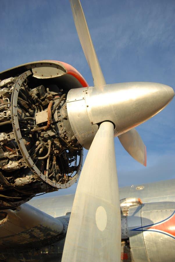 Aircraft engine royalty free stock photo