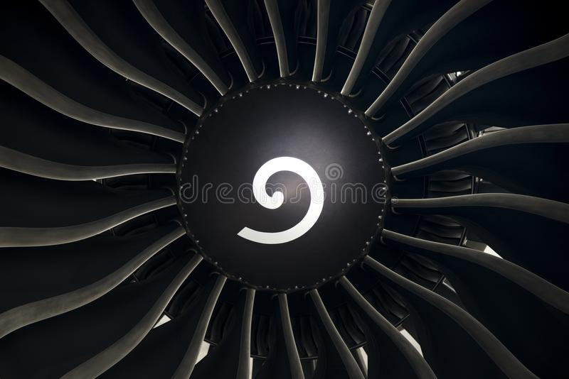 Aircraft engine close up shot. Aircraft engine and propeller close up shot royalty free stock images