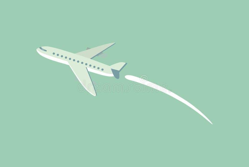 Aircraft Flying Leaving Trace Vector Illustration vector illustration