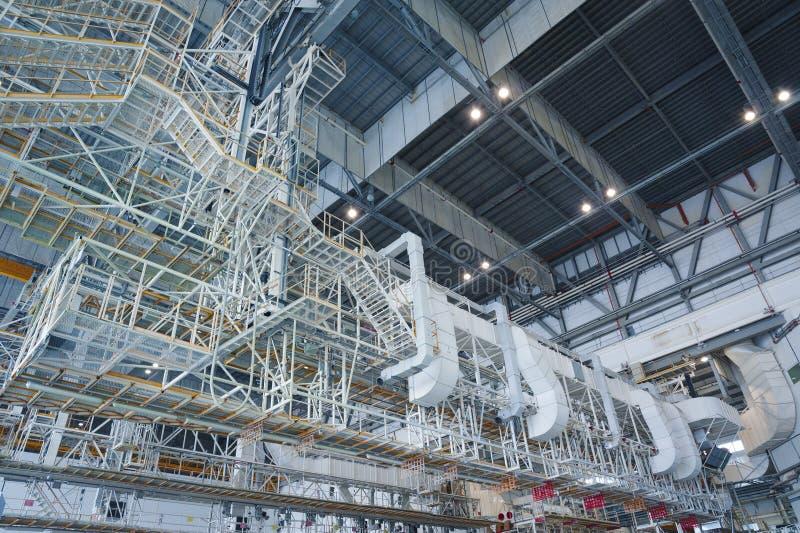 Aircraft hangar royalty free stock image