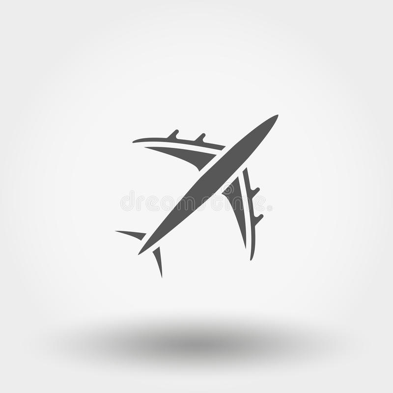 Aircraft icon. Vector. Aircraft. Icon for web and mobile application. Vector illustration on a white background. Flat design style vector illustration