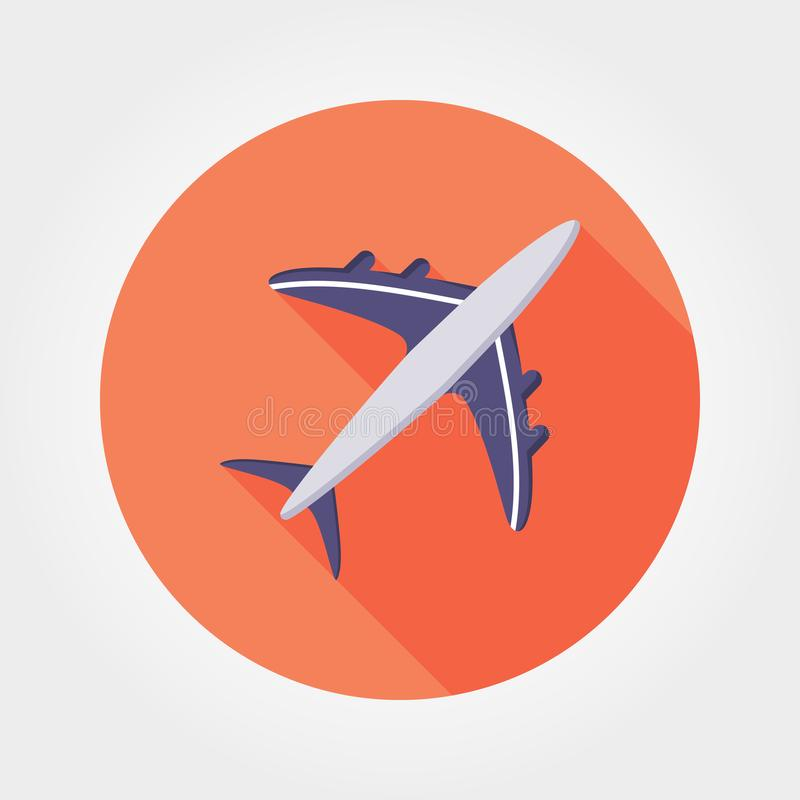 Aircraft icon. Vector. Aircraft. Icon for web and mobile application. Vector illustration on a white background. Flat design style stock illustration