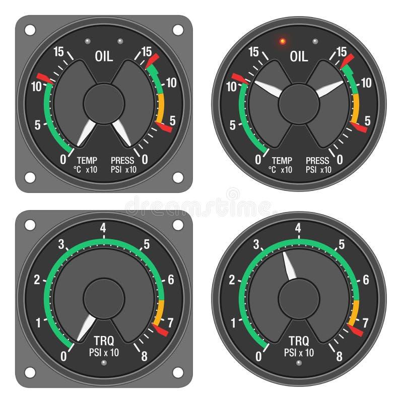 Download Aircraft Indicators 1 - 480B Dashboard Set Stock Illustration - Image: 22735100