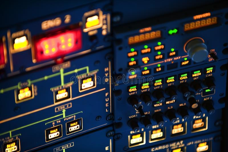 Download Aircraft instrument stock image. Image of throttle, push - 18644205