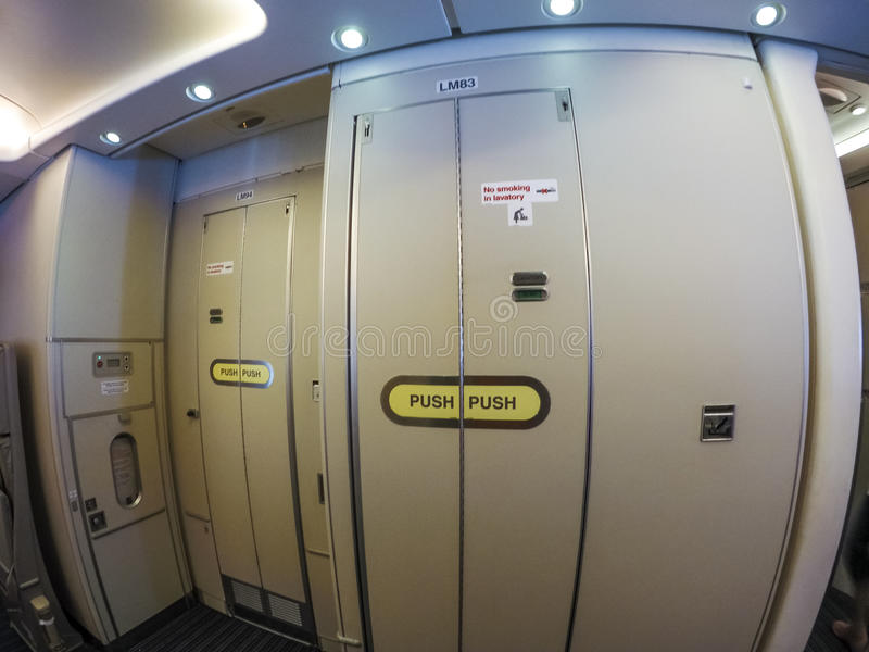 Download Aircraft lavatory stock photo. Image of cabinet, locked - 57093922