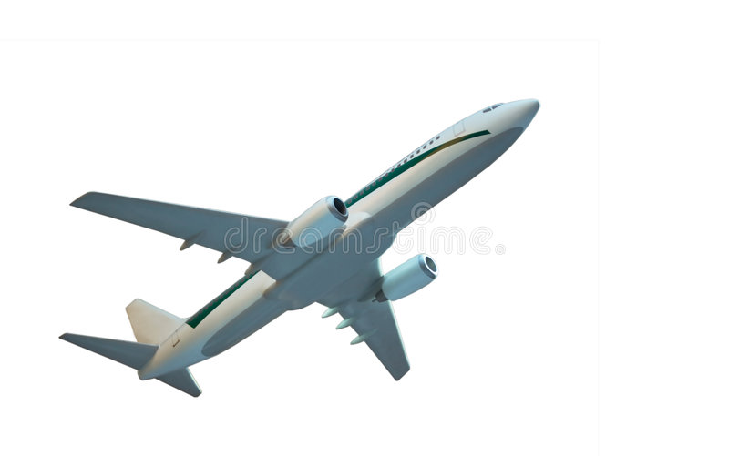 Aircraft model isolated royalty free stock photo