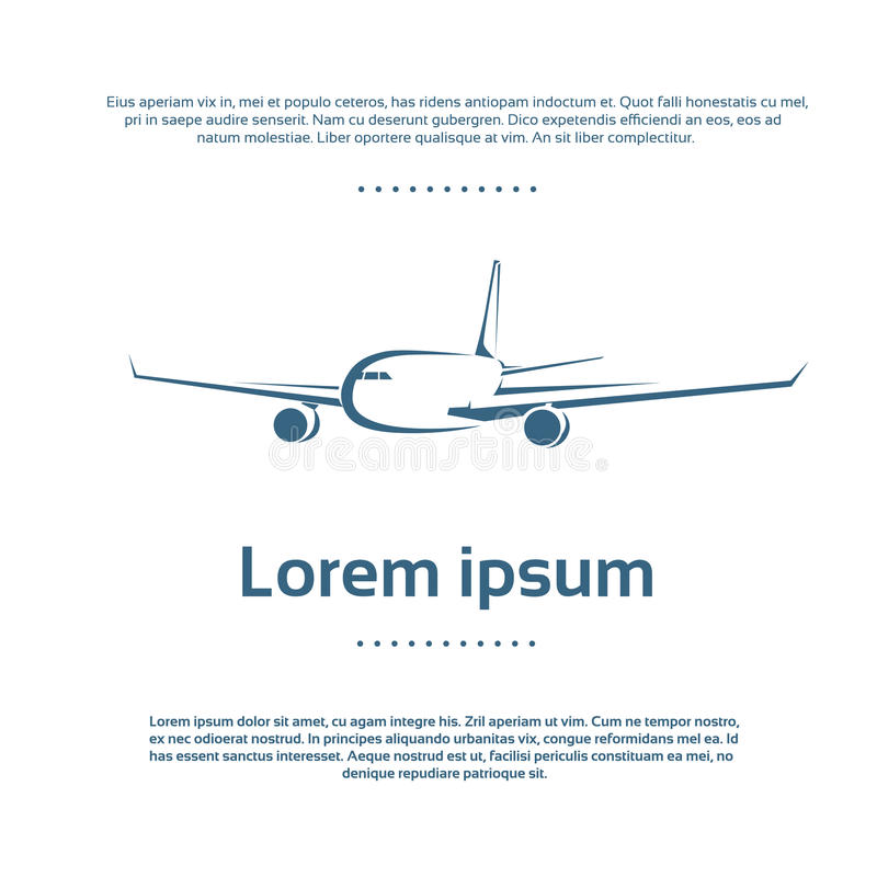 Aircraft Plane Logo Color Icon Vector vector illustration
