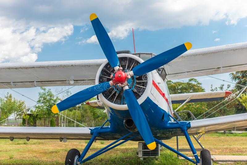Small propeller airplane royalty free stock photo