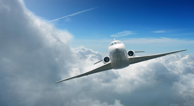 Aircraft in the sky stock photos