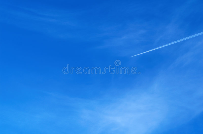 Aircraft in sky