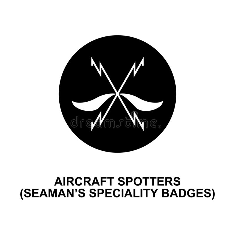 Aircraft spotters seaman speciality badge rank icon. Element of Germany army ran. K icon on white background stock illustration