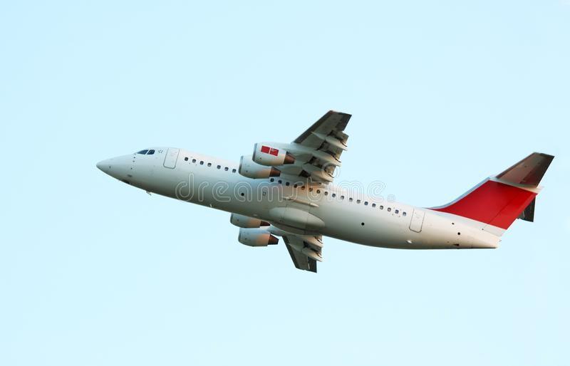 Aircraft on takeoff stock photos