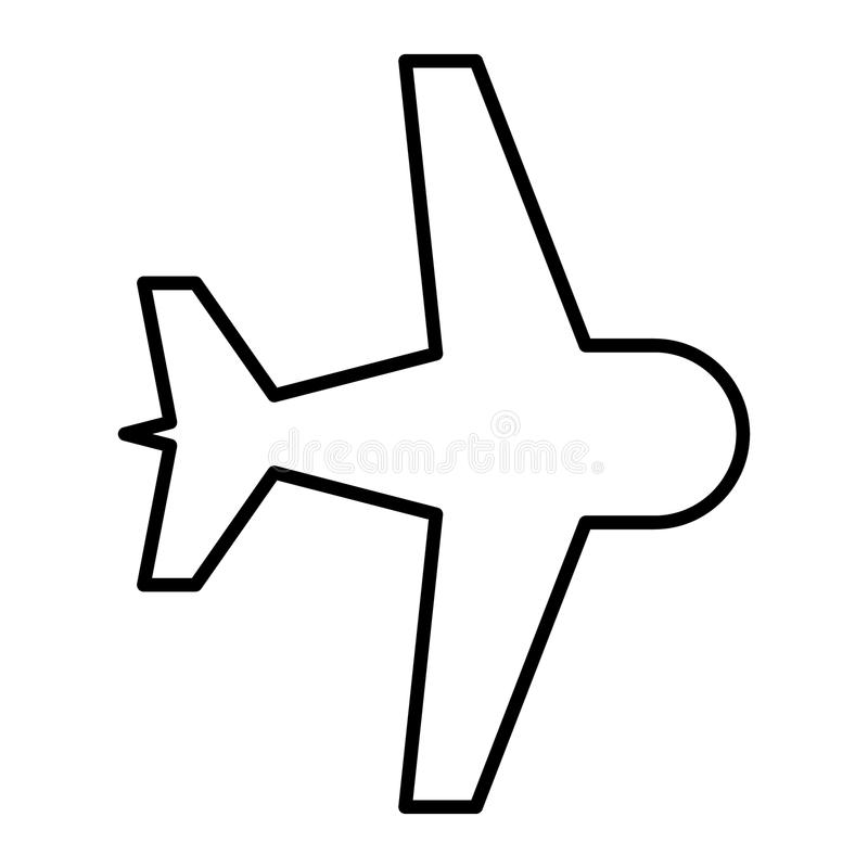 Aircraft thin line icon. Plane vector illustration isolated on white. Airplane outline style design, designed for web stock illustration