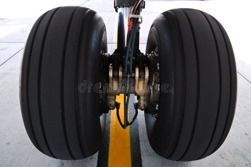 Aircraft tires royalty free stock photo