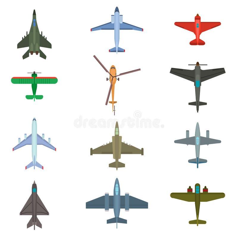 Aircraft top view vector illustration. vector illustration