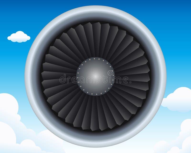 Aircraft turbine royalty free illustration
