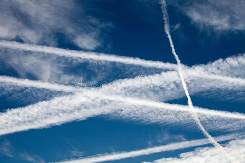 Download Aircraft Vapour Trails stock image. Image of black, aircraft - 26530901