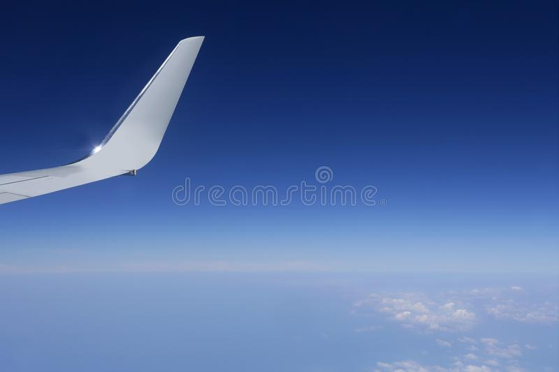 Download Aircraft Wing Detail Flying High Up Stock Image - Image: 12131567