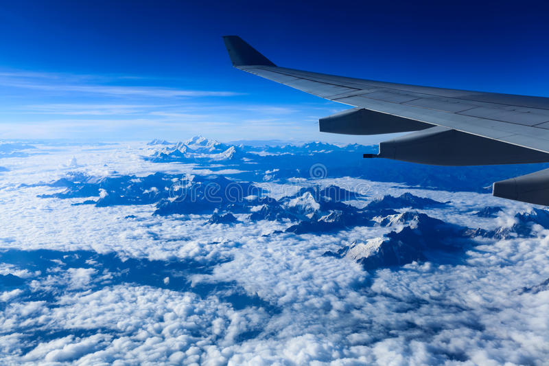 Download Aircraft Wing On The Himalayas Stock Image - Image: 26413839