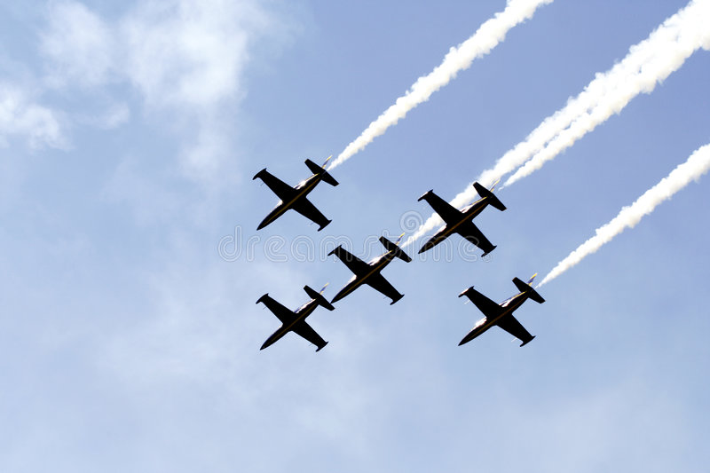 Aircrafts Formation Royalty Free Stock Image