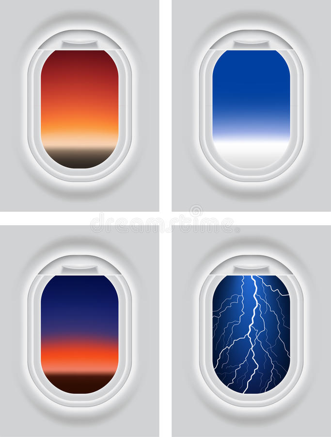 Download Aircrafts porthole stock vector. Image of plane, illustration - 27606556