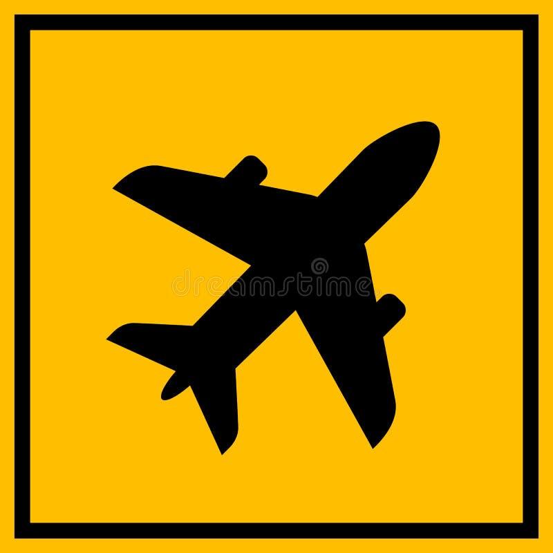 Airdrome wektoru znak ilustracja wektor