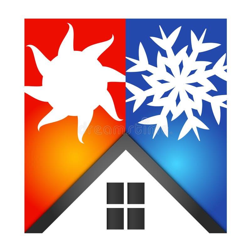 Aire acondicionado en casa stock de ilustración