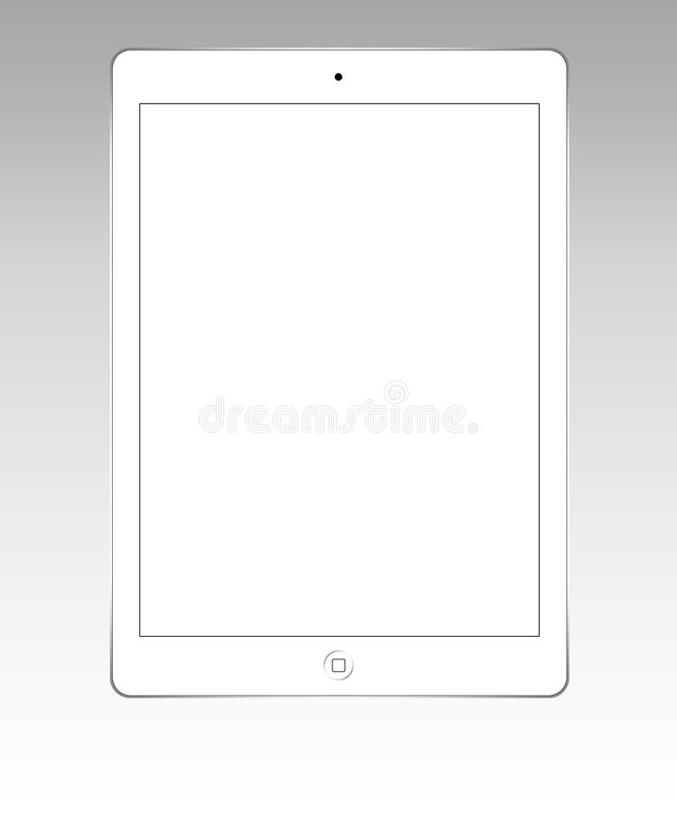 Aire blanco del ipad stock de ilustración