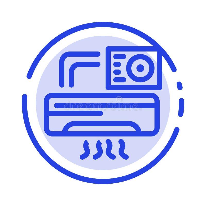 Aire, Aire-condición, CA, línea de puntos azul línea icono del sitio libre illustration