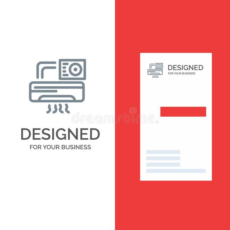 Aire, Aire-condición, CA, sitio Grey Logo Design y plantilla de la tarjeta de visita stock de ilustración