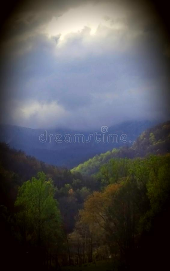 Aire de la montaña cherokee imágenes de archivo libres de regalías