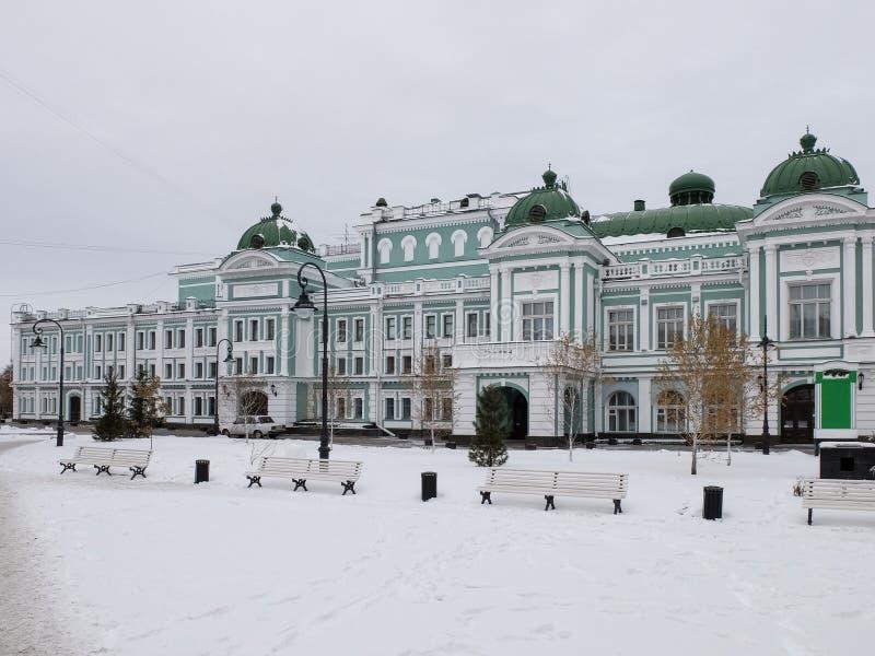 Aire de loisirs au théâtre scolaire de drame d'état d'Omsk image libre de droits