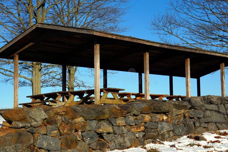Aire de pique-nique en parc d'état de crique de Brandywine photos libres de droits