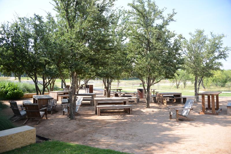 Aire de pique-nique de Trailhead, Fort Worth le Texas photo stock