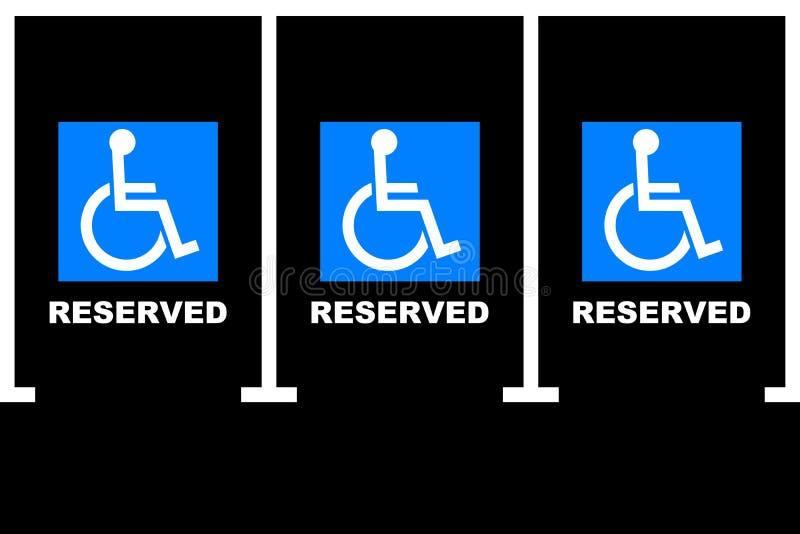 Aire de stationnement handicapé image libre de droits