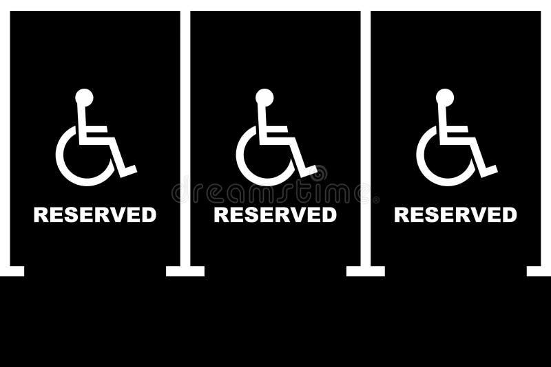 Aire de stationnement handicapé images libres de droits