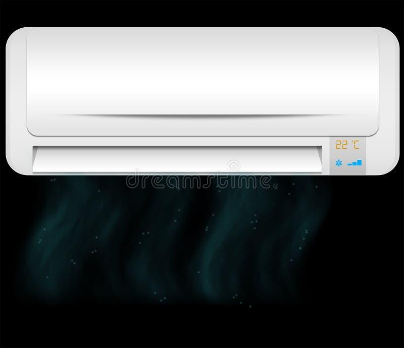 Aire frío del acondicionador de aire imagenes de archivo
