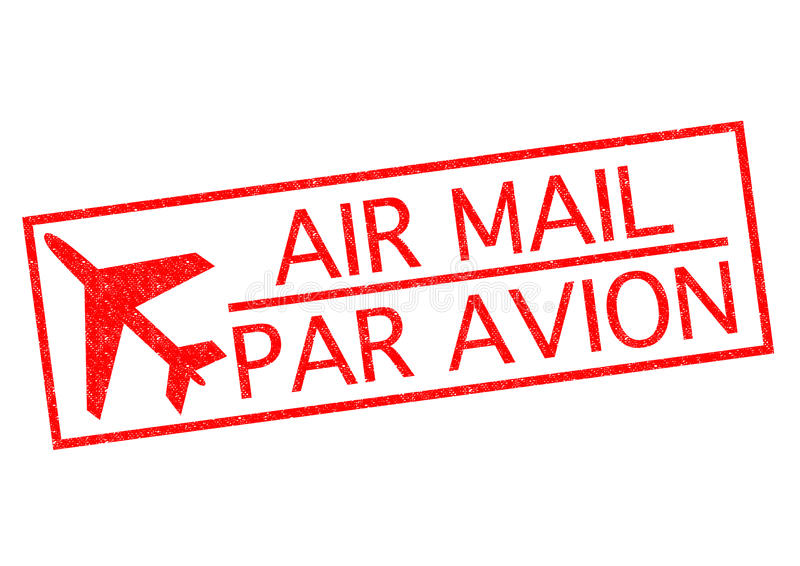 AIRE MAIL/PAR AVION ilustración del vector