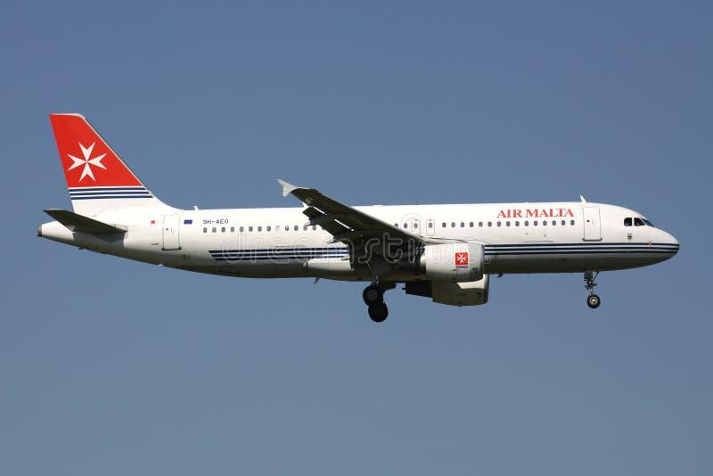 Aire Malta Airbus A320-200 fotos de archivo libres de regalías