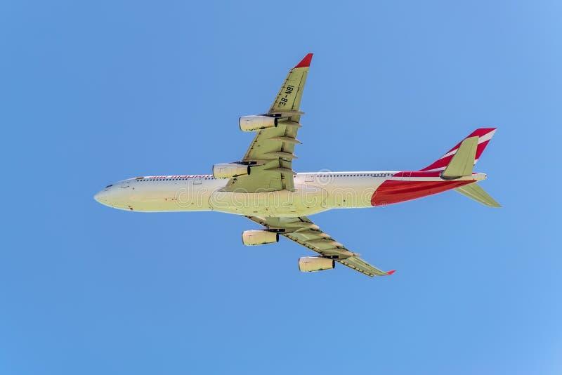 Aire Mauritius Airbus A340-300 imagen de archivo libre de regalías