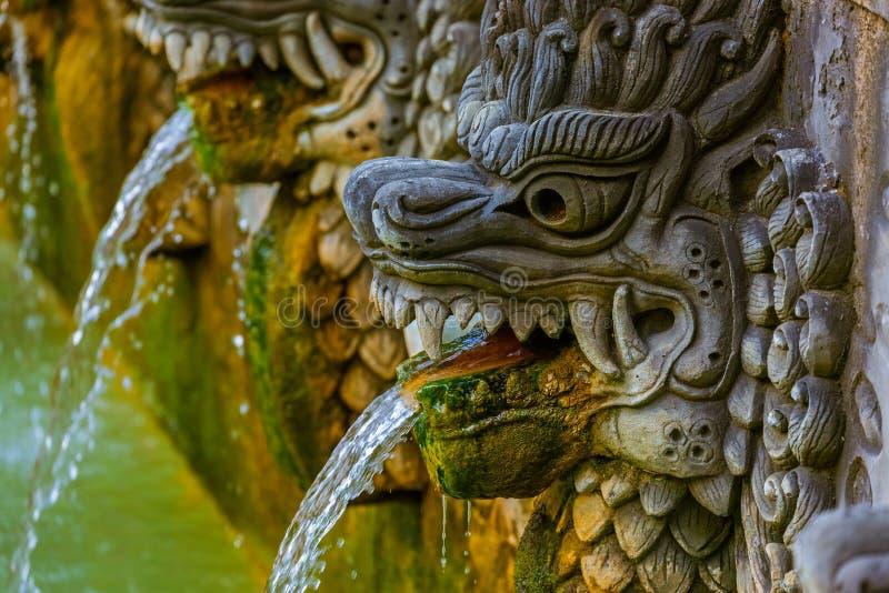 Aire Panas Banjar de las aguas termales - isla Indonesia de Bali fotografía de archivo