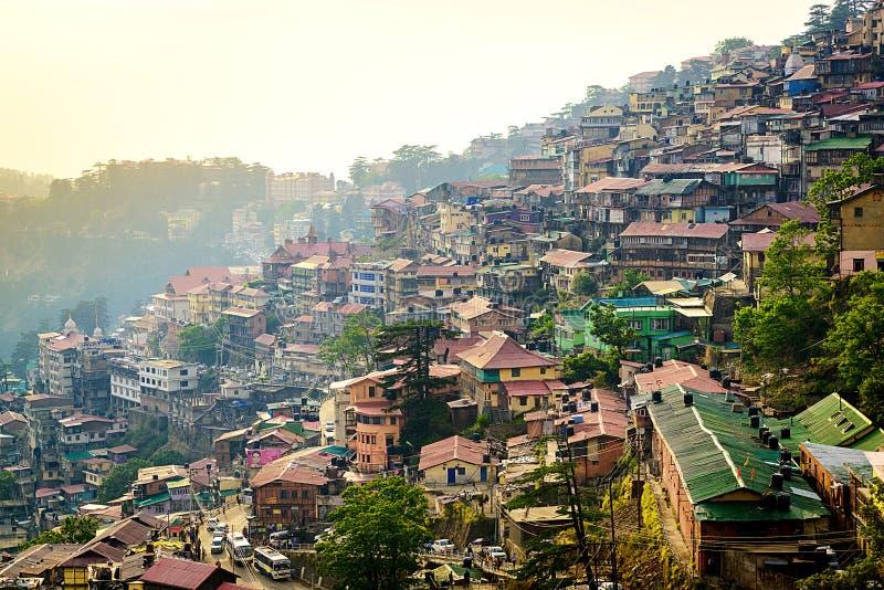 Aireal άποψη Shimla στοκ φωτογραφίες